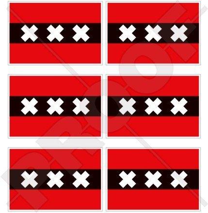 Amsterdam Flagge Niederlande, Nederland (Niederländische Flagge 40mm (40,6cm) Mobile, Handy Vinyl Mini Sticker, Aufkleber X6