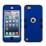 MYTURTLE iPod Touch 7th 6th 5th Generation Case Shockproof Hybrid Hard Silicone Shell Impact Cover with Screen Protector for iPod Touch 7 (2019), iPod Touch 5/6 (2015), Titanium Blue Black