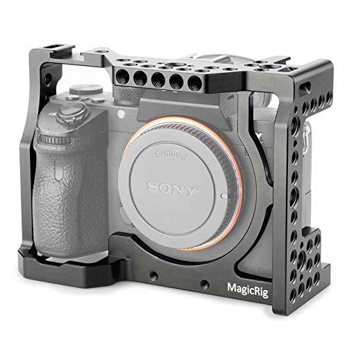 Gaiola de câmera Magicrig com sapato frio padrão para câmera Sony A7RIII/A7RII/A7MII/A7SII/A7III/A7II para kit de extensão de liberação rápida
