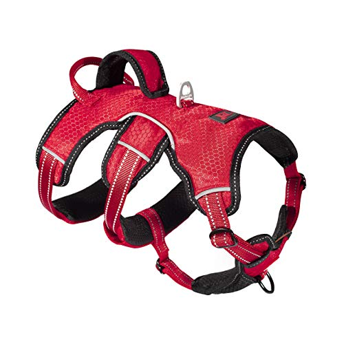 Tracker - No Pull Dog Harness | Front And Back Leash Attachment Points | 3M Reflective Stitching Increases Safety At Night | 5 Point Adjustable Fit Harness For Dogs | Padded Dog Harness For Comfort