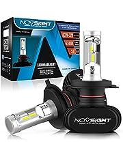 NOVSIGHT 車用ledヘッドライト/フォグランプ 50W(25Wx2) 8000LM(4000LMx2) 6500K CSP社製ledチップ搭載 ファンレス 3年保証 車検基準 (ホウイト 2個セット)