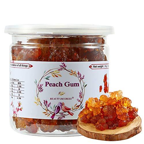 APEACHGIRL Medicatedgumfor high nutritional Yunnan Natural Wild Medicated Gum Edible Peach Blossom Tears Medicated Gum Sealed canned 250g / 8.8oz