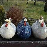 GQQ New Security Chicken On The Fence - Hermosas Esculturas de Pollos, Estatuas, Ilustraciones, Resina, Pollo, Artesanía, Granja, Adornos para el Hogar, para Decoración de Jardín de Césped de Granja,