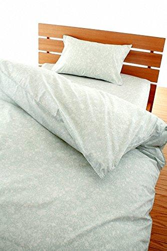 高密度 防ダニカバー ナチュレ 掛け布団カバー ジュニアサイズ (ミントグリーン)