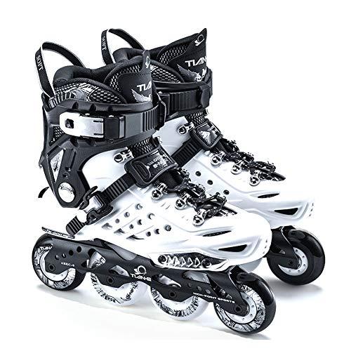 Dytxe Inline Skates Rollschuhe Für Damen/Herren Mit ABEC-9 Lagern Und 85A PU Rädern Professionelle Hochleistungs-Inlineskates Für Herren Und Anfänger,Weiß,42