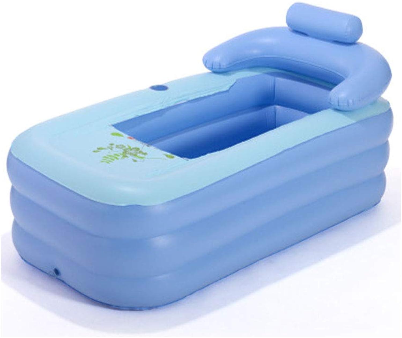 Q&Z Inflatable Bathtub Adult Foldable Portable Inflatable PVC Pool Anti-Slippery Warm Large Size Tub Thicker Bath Tub Travel Home SPA Tub