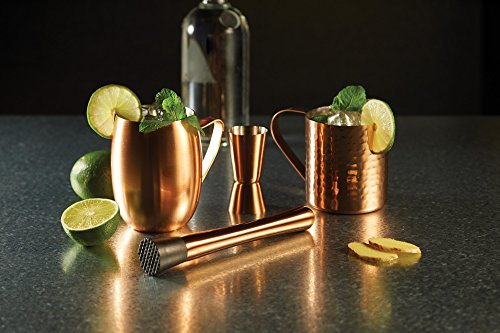 BarCraft Dual Cocktail Jigger/Spirit Measure, Stainless Steel, Copper Finish, 25/50 ml