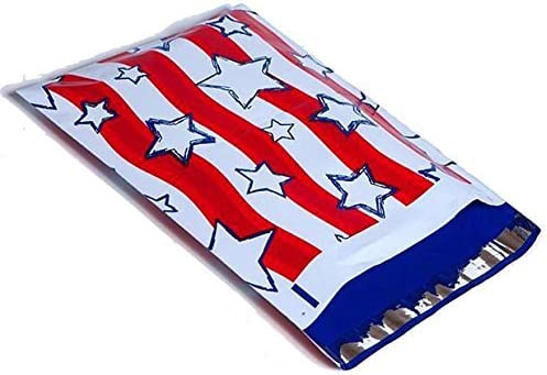 10x13 Deluxe Red White Blue Stars and S depot Stripes Mailers Poly Designer