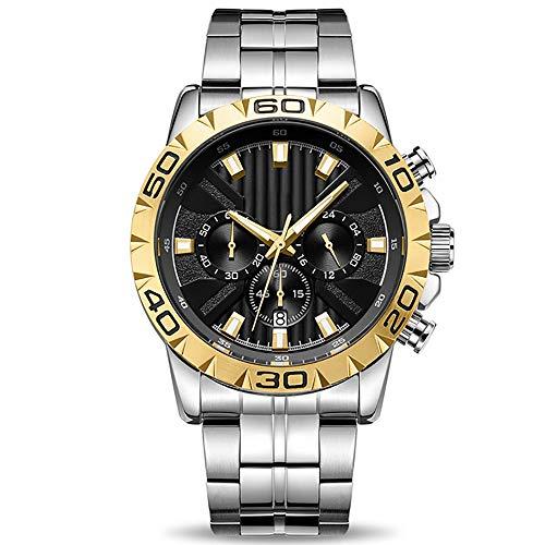 Voigoo Uhr-Mann-Chronograph Quarz-Geschäfts-Herren-Uhr-Spitzenmarken Wasserdicht Gold-Male Uhr Reloj Hombre Saat