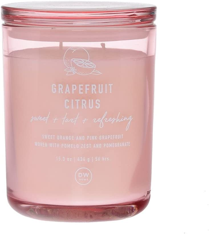 DW Home Richly Scented Grapefruit Citrus Large Double Wick Candle