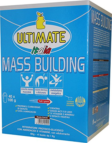 Ultimate Italia Mass B4 Building Gainer, Cacao - 4000 gr