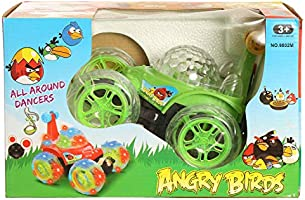 Happy Toys Baby toy Twister Car angry Birds with Remote Control, No-9802, Green Black