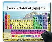 要素ゲーミングマウスパッドの色の周期表、ステッチされたエッジの海岸ビーチテーマのマウスマット