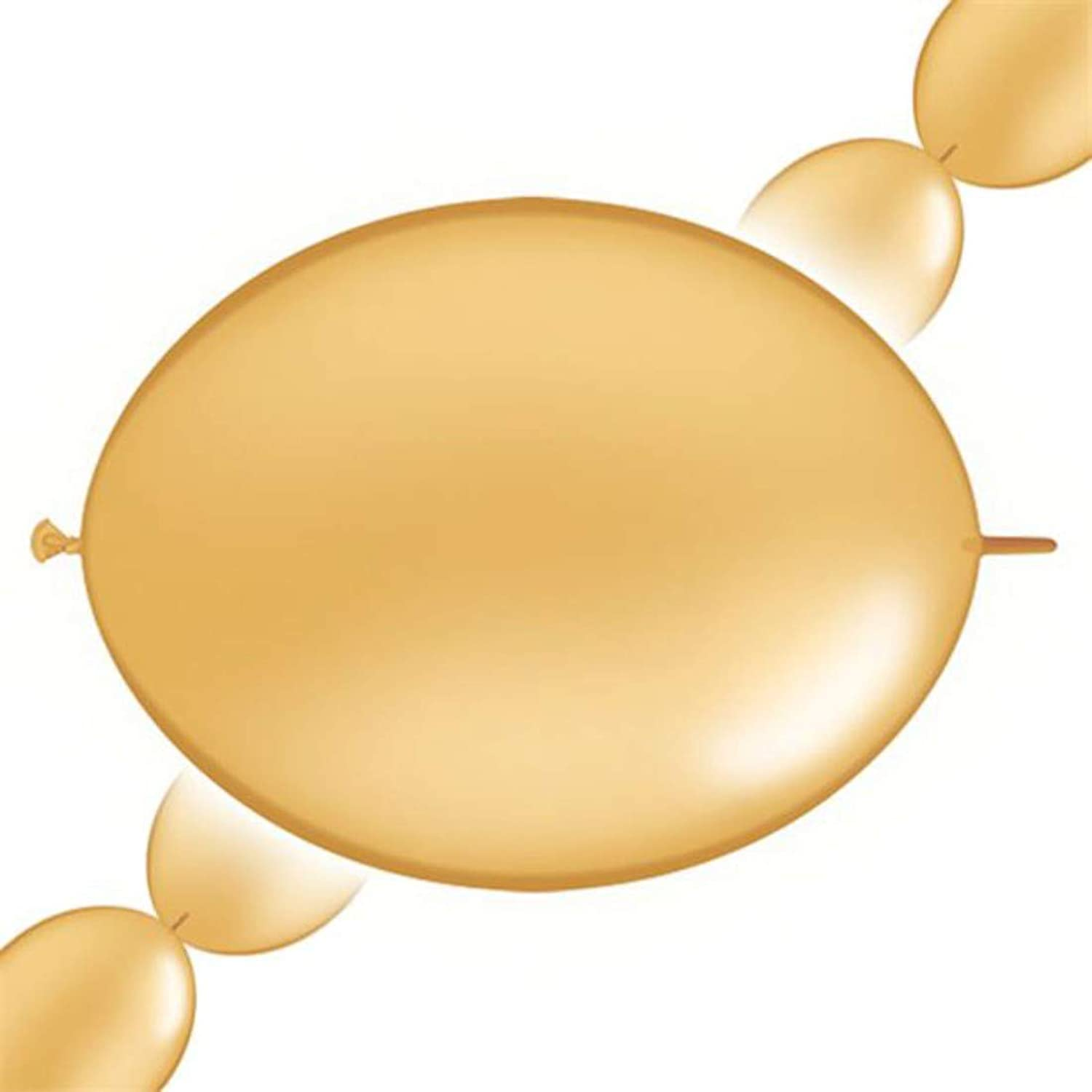 Pioneer Balloon 65245 50 Count Quick Link Latex Balloons, 12, gold by Pioneer National Latex