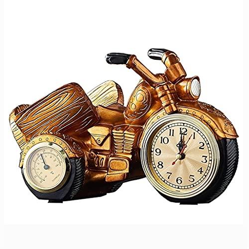 WHL Retro Vino Estante Resina Escultura artesanía Motocicleta Vino de Almacenamiento de Vino para la Sala de Estar Restaurante Decoraciones Regalo (Color : Gold)