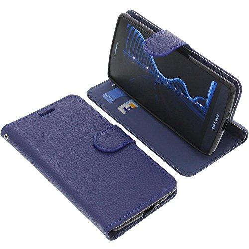 foto-kontor Tasche für TP-Link Neffos C5 Book Style blau Schutz Hülle Buch