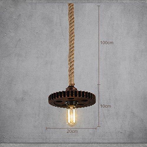 LLT Lámpara Colgante Útil Chandelier Engranaje Creativo Café Bar Personalizado Retro Hemp Americano Industrial Aisle de Viento Arañas Colgante Luz
