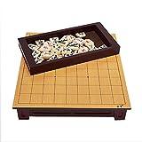 Juego de ajedrez Juegos Viajes Adultos Niños Tablero de Madera Japón Shogi Plegable SHO-Gi Ajedrez Juego Juguete Tabla Regalo Niños Rompecabezas Casual,Board+Basswood Pieces