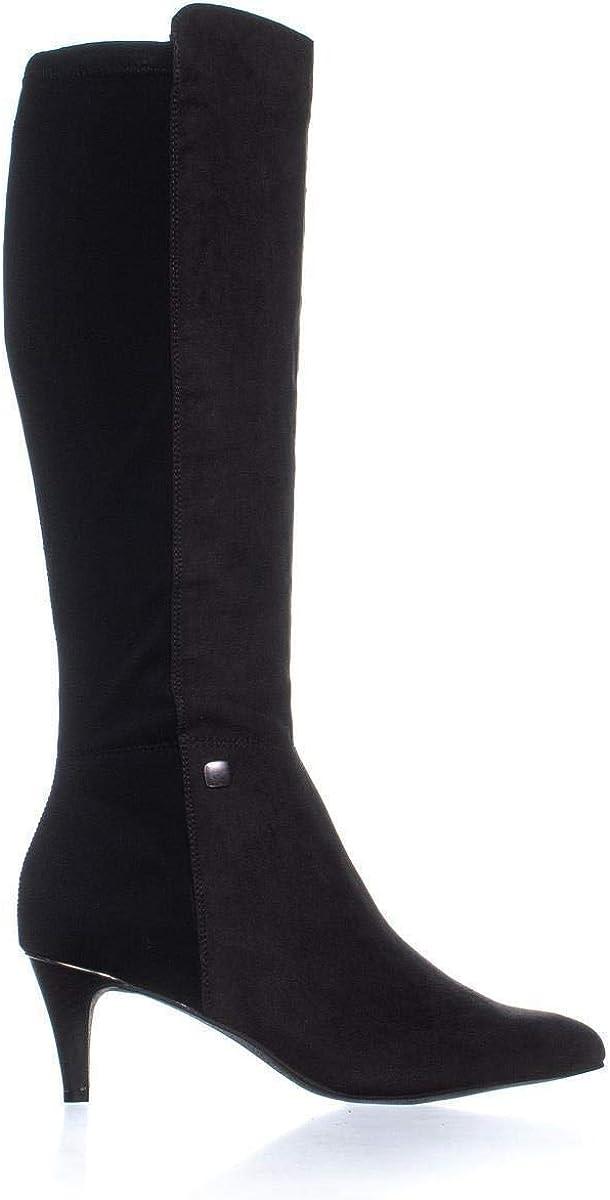 Alfani Womens Hakuu Fabric Pointed Toe Mid-Calf Fashion Boots