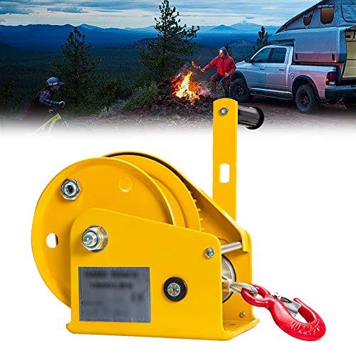 Eortzzpc Cabrestante Manual Hasta 800kg 4:1polipasto Manual Torno De Cable Forestal Fuerza...