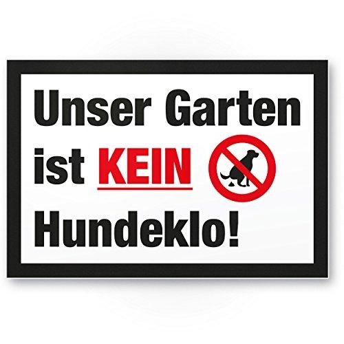 UnGarten Kein Hondenlo/Kein Hondentoilet - Kunststof bord honden kakkken verboden - verbodsschild/hondenverbodsbord, verbod hondenlo/hondenhondenbroek/hondenmand