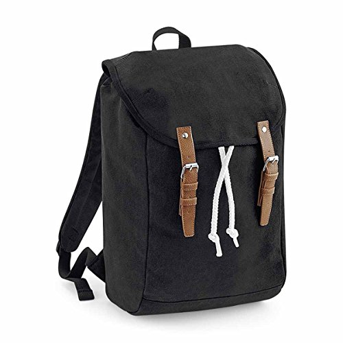 Quadra Vintage backpack, Unisex, Black, One Size
