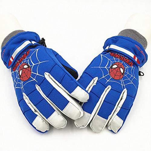 JIE KE Kinderhandschoenen Spider-man Iron Man Jongens Outdoor Spelen Sneeuw Waterdicht Warm Vijf-vinger Ski Handschoenen