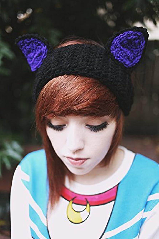 Kiki's Delivery Service - Jiji Ears Crochet Ear Warmer Kitty Ears Headband Studio Ghibli