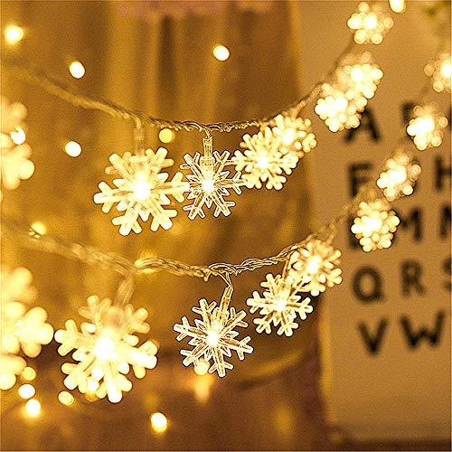 Snowflake Lights Christmas String Lights for Bedroom...