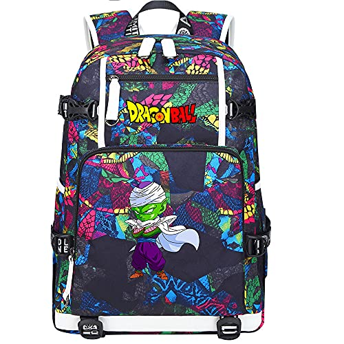 ZZGOO-LL Dragon Ball Son Goku/Vegeta IV Anime Backpack Rucksack Daypack with for Teen Boys and Girls USB Unisex-D