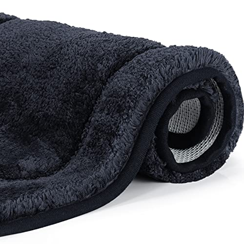 Alfombra Baño, OKYUK Alfombrilla Baño Antideslizante Suave,Alfombra de Baño Fuerte Absorbente Lavable Máquina,Ceniza de Pasta de Frijoles, Tamaño: 40x60 cm