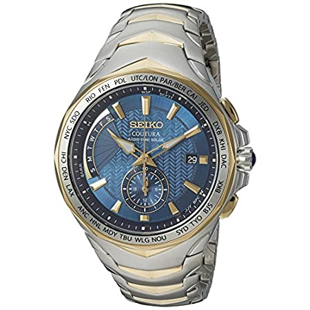 Fashion Shopping Seiko Men's SSG020 COUTURA Analog Display Japanese Quartz Two Tone Watch