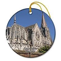 ウルグアイ教会マトリックスモンテビデオクリスマスオーナメントセラミックシート旅行お土産ギフト