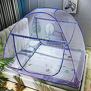 crib bedding and baby bedding portable pop-up mosquito net tent for bed baby adults trip, l79 x w71 x h59 inch large folding mosquito netting with net bottom, 2 entries, suit for twin to king size bed
