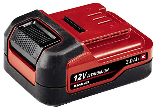 Einhell Batería de 12V 2.0 Ah Li (iones de litio, 2 Ah, 12 V, máx. 240 W, sin autodescarga, gestión proactiva de la batería, ciclos de carga adaptados, pantalla LED de 3 escalones)