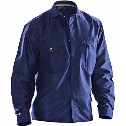 Jobman 560117-6700-3 hemd in marineblauw maat XS,