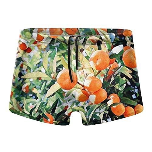 XCNGG Orange Trees Calzoncillos Tipo bóxer de Secado rápido para Hombre Bañadores Shorts Trunks Traje de baño Grande