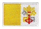 Flagge Vatikanstadt Vatikan Klein Aufnäher Bügelbild Applikation Flicken Patch Größe 4,7 x 3,3 cm