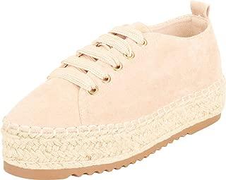 Cambridge Select Women's Lace-Up Chunky Platform Espadrille Fashion Sneaker