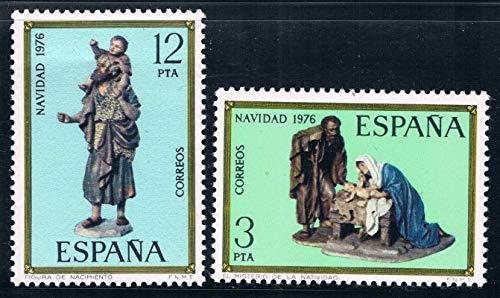 JCNL 2 unids/Set Nuevo Sello Postal de España 1976 Sellos de Talla de Madera de España