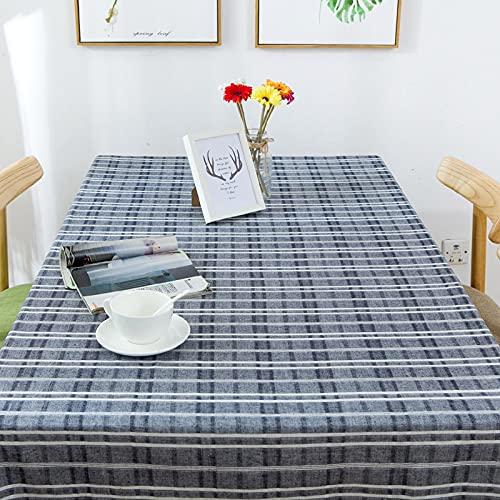 DSman fácil de Limpiar, para jardín, Habitaciones, decoración de Mesa, Tela Escocesa Moderna Simple a Rayas de Estilo de Alta Gama