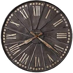 Howard Miller Stockard Wall Clock 625-630 – Oversized Recessed Metal with Quartz Movement