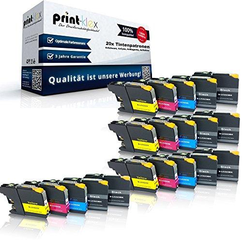 20x kompatible Tintenpatronen für Brother LC223 LC225 MFC-J 4620 DW MFC-J 4625 DW MFC-J 5320 DW - Sparpack - Office Pro Serie - 8x Black 4x Cyan 4x Magenta 4x Yellow