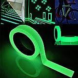 FULARR 5m X 3cm Premium Pegatina de Cinta Luminosa, Glow in The Dark Tape, Cinta Adhesiva de Seguridad Autoadhesiva Fluorescente, Extraíble Impermeable Durable Estable Seguridad –– Luz Verde