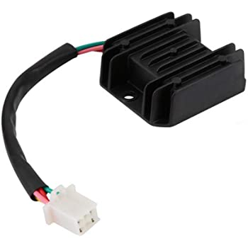 4-Pin Male Plug Regulator Rectifier Keenso 12V Regulator Rectifier for 50cc to 150cc ATV Moped Scooter