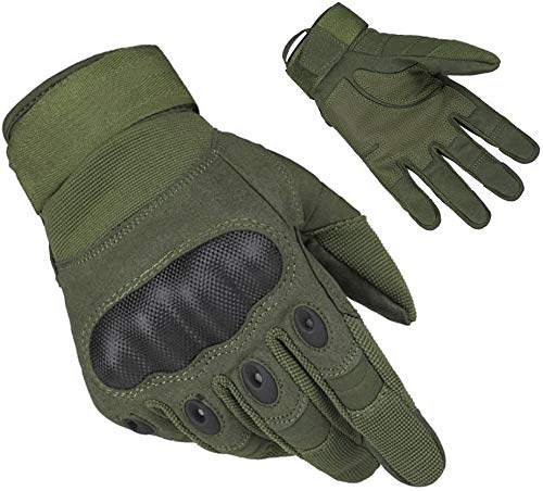 HASAGEI Outdoor-/Sport-Handschuhe, für Herren, ganze Finger, zum Arbeiten, für die Jagd und fürs Motorrad-/Radfahren, Klettern, Skilaufen