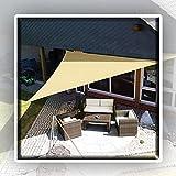 WULIL Toldo Vela De Sombra Impermeable, Toldo con Protección Solar Triangle PES Tasa De Sombreado del 90% Toldo De Patio De Bloque UV En Arena Fácil De Instalar (Color : Sand, Size : 4.5x4.5x4.5m)
