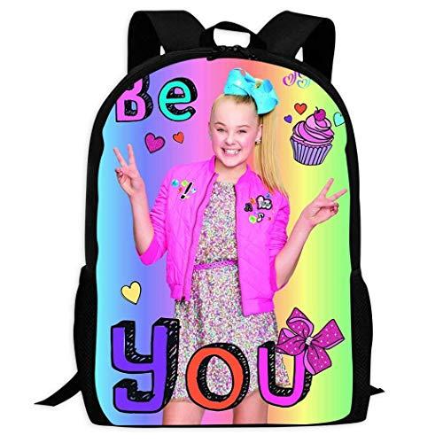 DJNGN Mochila Informal Mochila Escolar Mochila de Viaje Jojo Siwa Backpack Leisure Adults Youth Boy Girl Book Bag College Student School Gifts