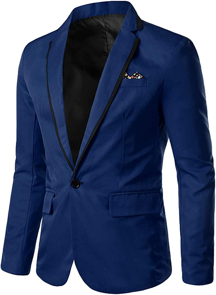 Casual Modern specialty shop Fit Suit Jacket Blazer W New Free Shipping Stylish Business for Mens