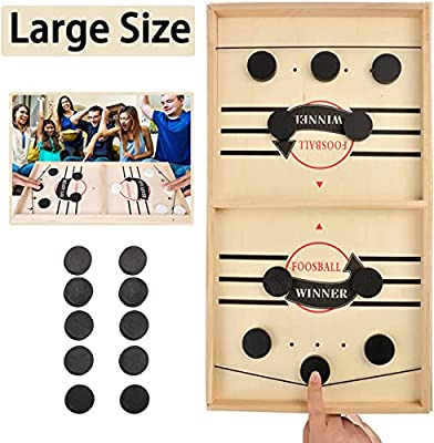 DTJTOOY Large Size Slingshot Board Game Fast Sling Puck Game Family Board Games Slingshot Board Games for Adults and Kids Foosball Board Game Ice Hockey Table Game Chess Board Games Battle